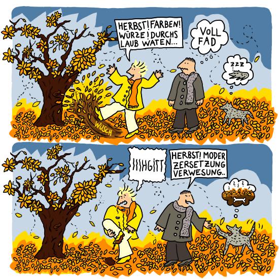 Herbst Farben Würze durchs Laub waten Fad Moder Zersetzung Verwesung