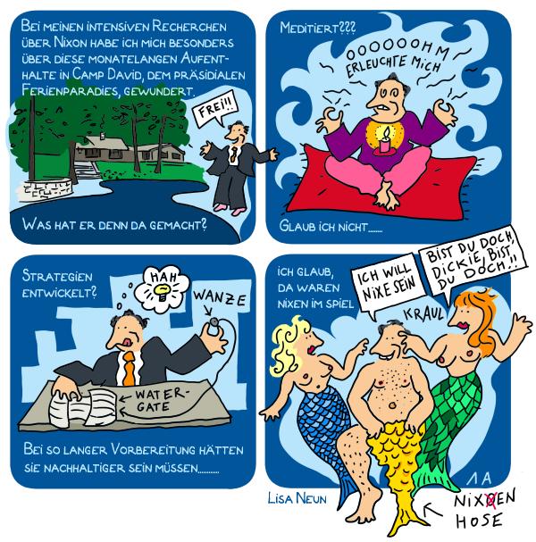 Meerjungfrauen, Nymphen, Nixon